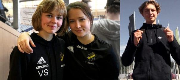 Vera Sjöberg, Agnes Ekman och Gustav Gahne